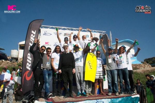 Podium des vainqueurs de la compétition Agadir Open 2015